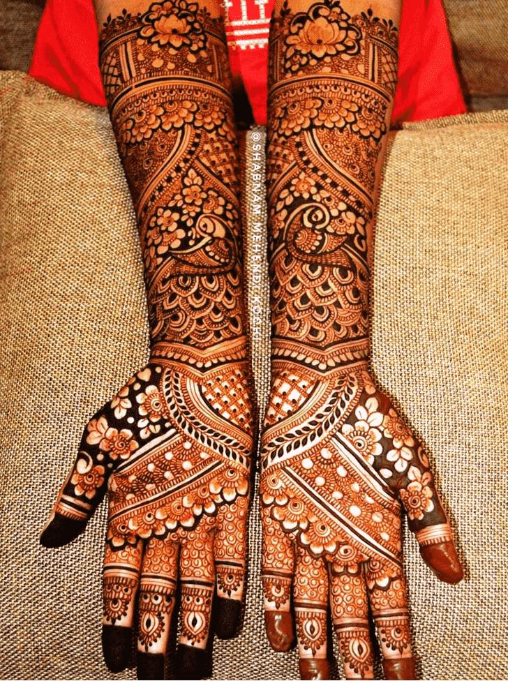 Magnificent Shivratri Henna design