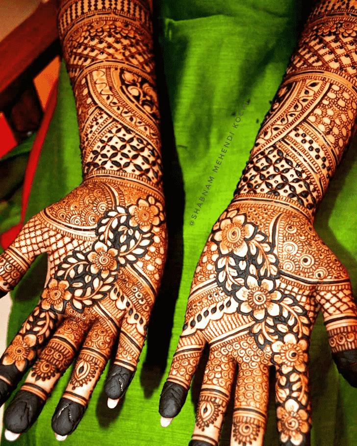 Refined Shivratri Henna design