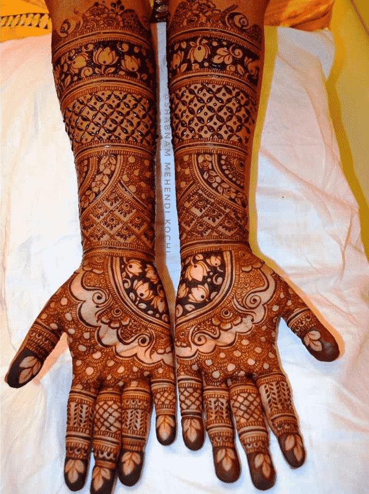 Resplendent Shivratri Henna design