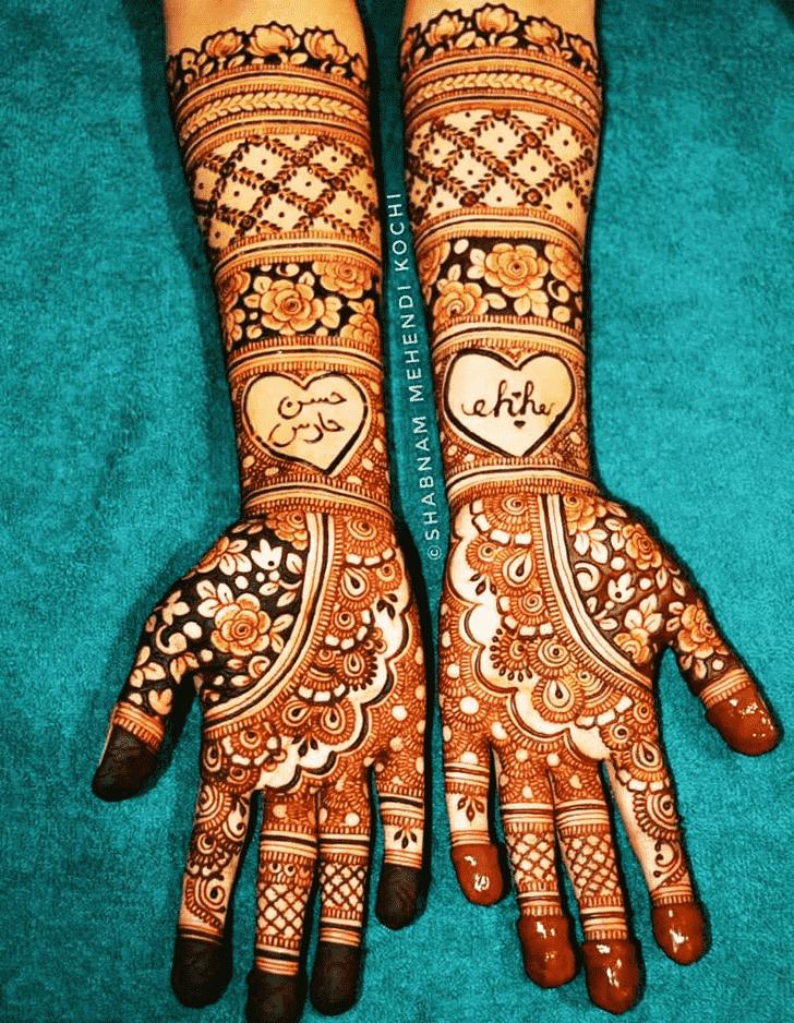 Slightly Shivratri Henna design