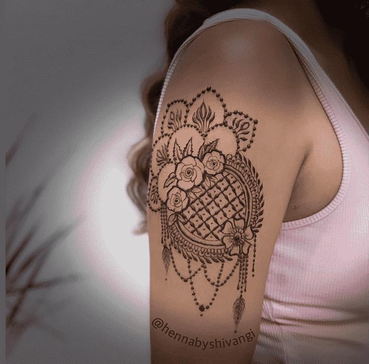 Adorable Shoulder Henna design