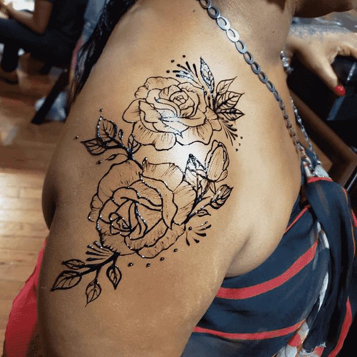 Beauteous Shoulder Henna design