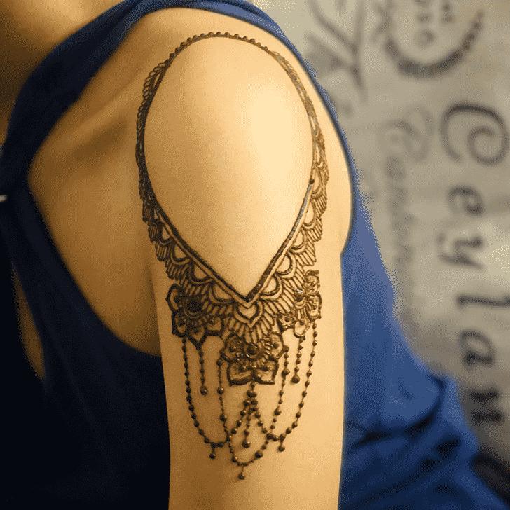 Bewitching Shoulder Henna design