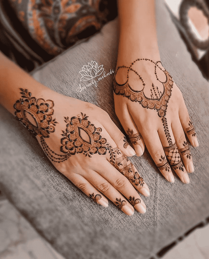 Appealing Silicon Valley Henna Design