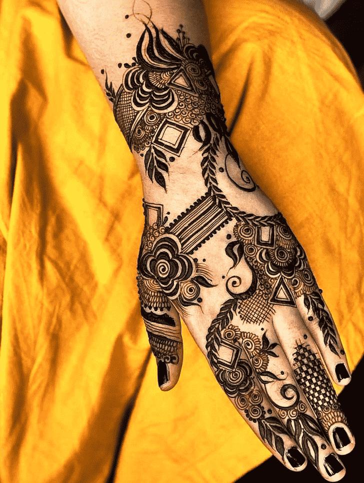 Angelic Simple Henna design