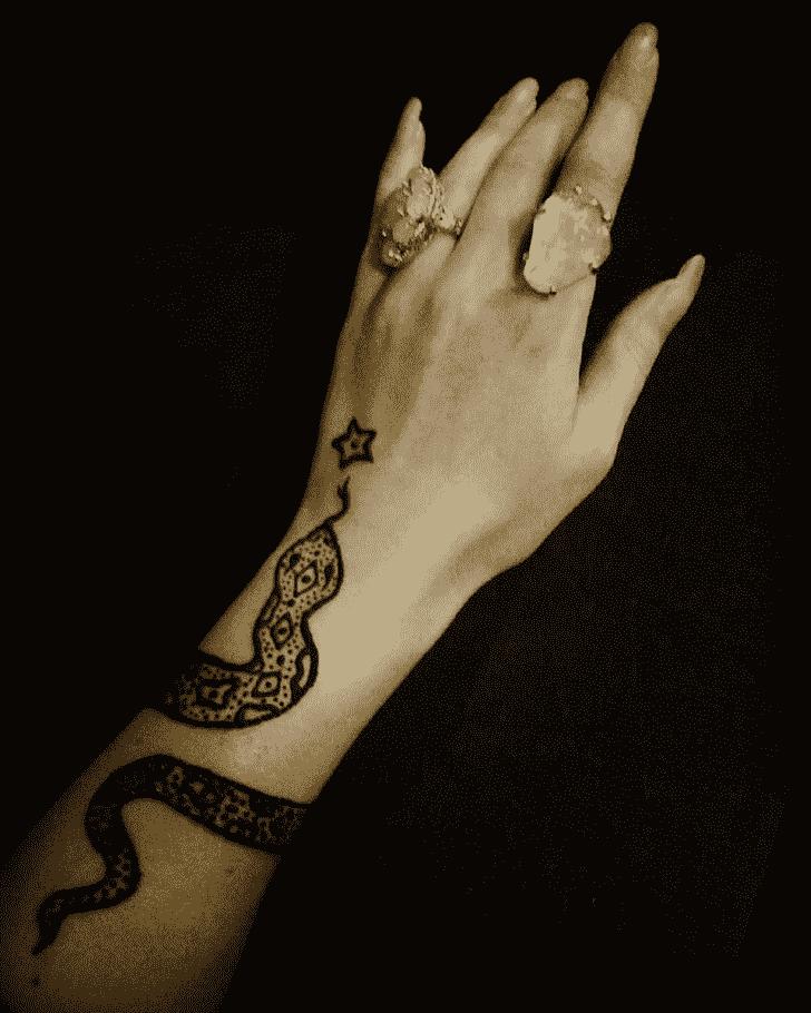 Appealing Snake Henna Design