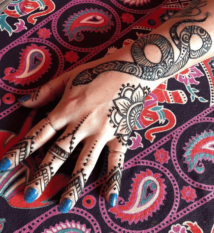 Charming Snake Henna Design