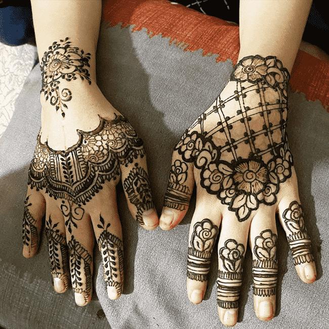 Admirable South Indian Mehndi Design