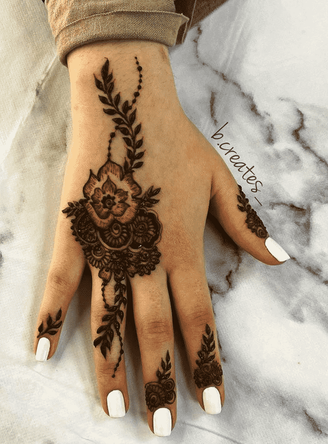 Angelic South Indian Henna Design