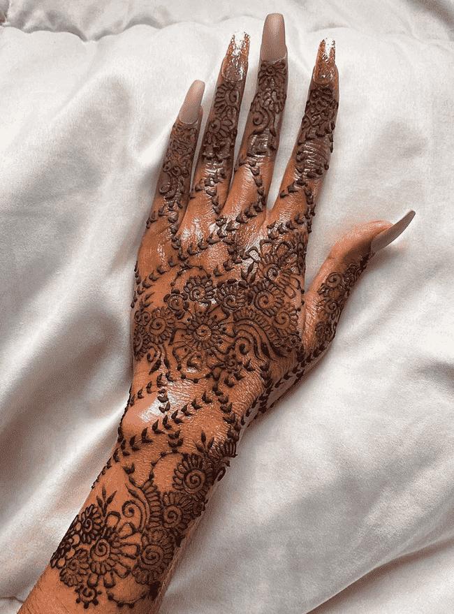 Beauteous South Indian Henna Design