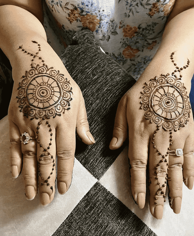 Bewitching South Indian Henna Design