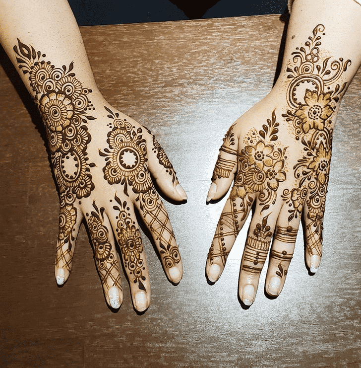 Adorable South Korea Henna Design