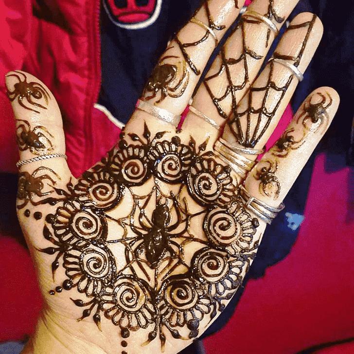 Spider Henna design