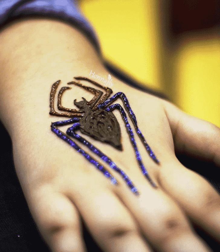 Enthralling Spider Henna design