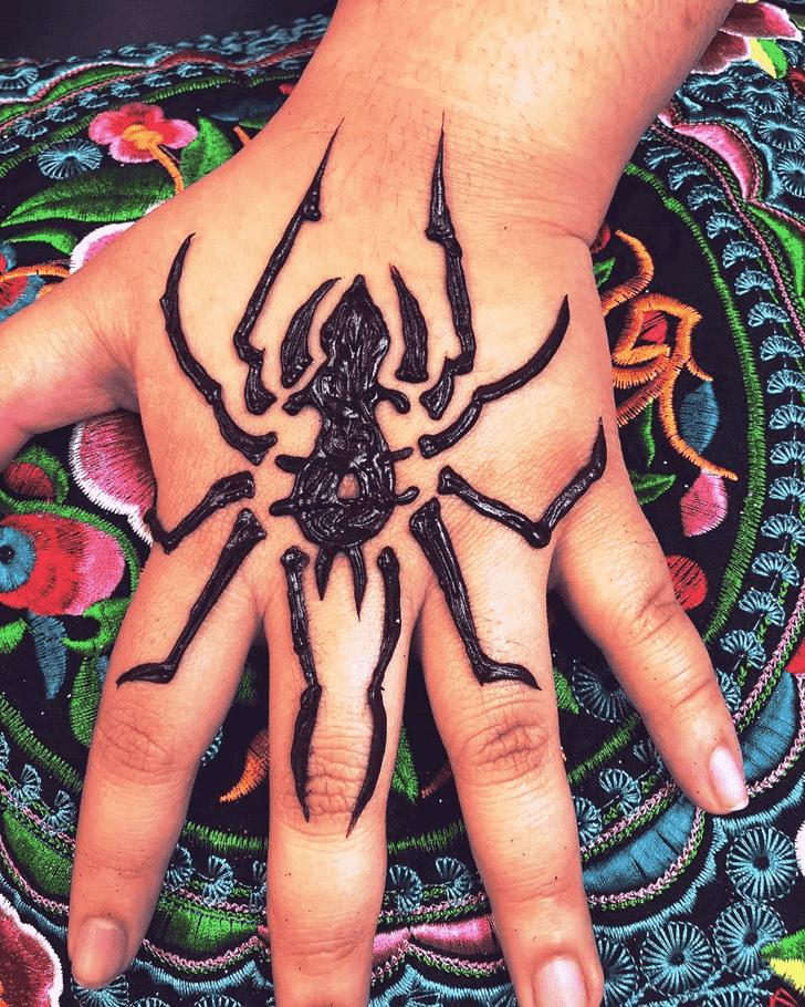 Fair Spider Henna design