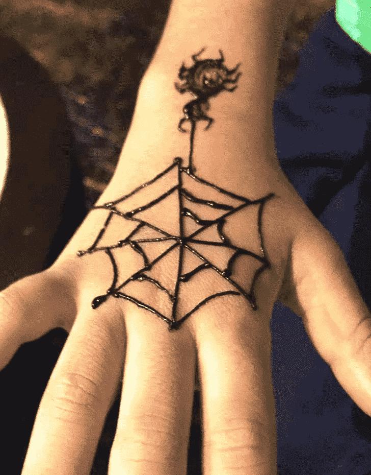 Spidersome Spider Henna design