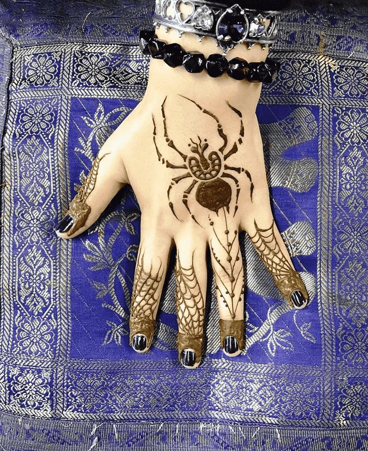 Lovely Spider Mehndi design