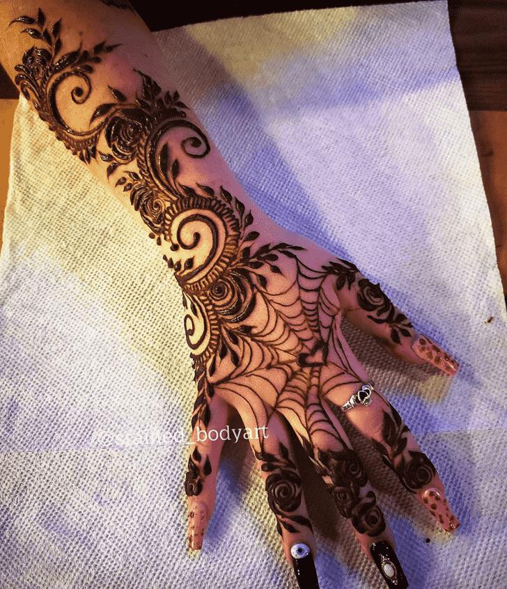 Magnetic Spider Henna design
