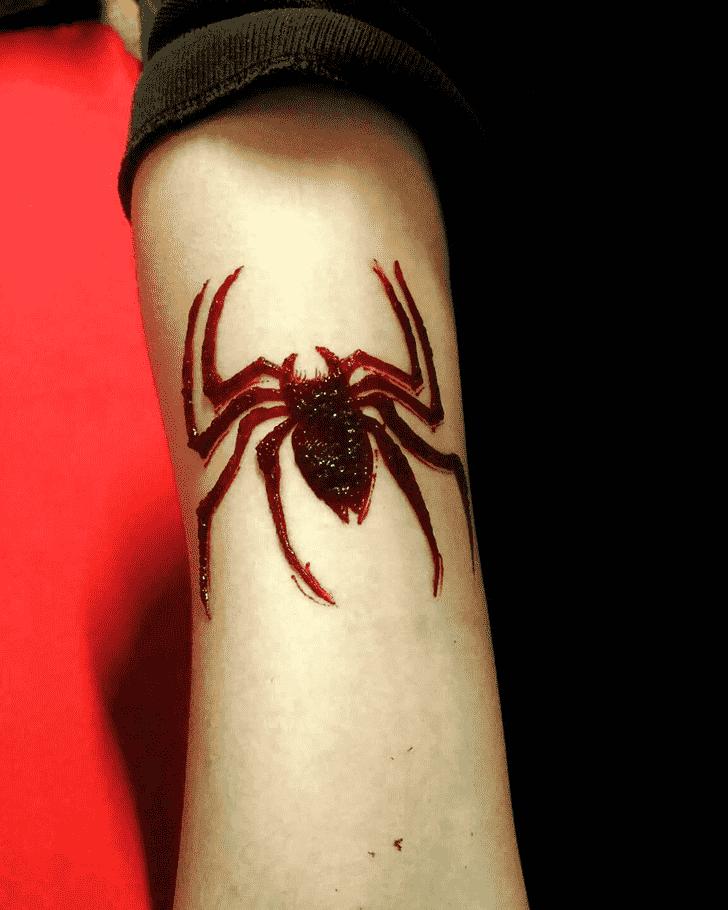 Splendid Spider Henna design