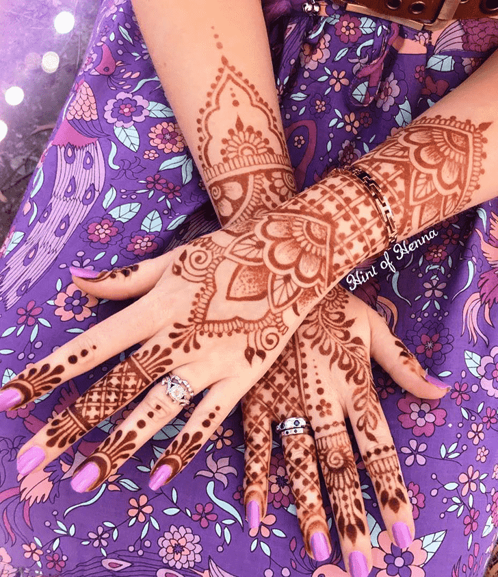 Beauteous Stunning Henna design