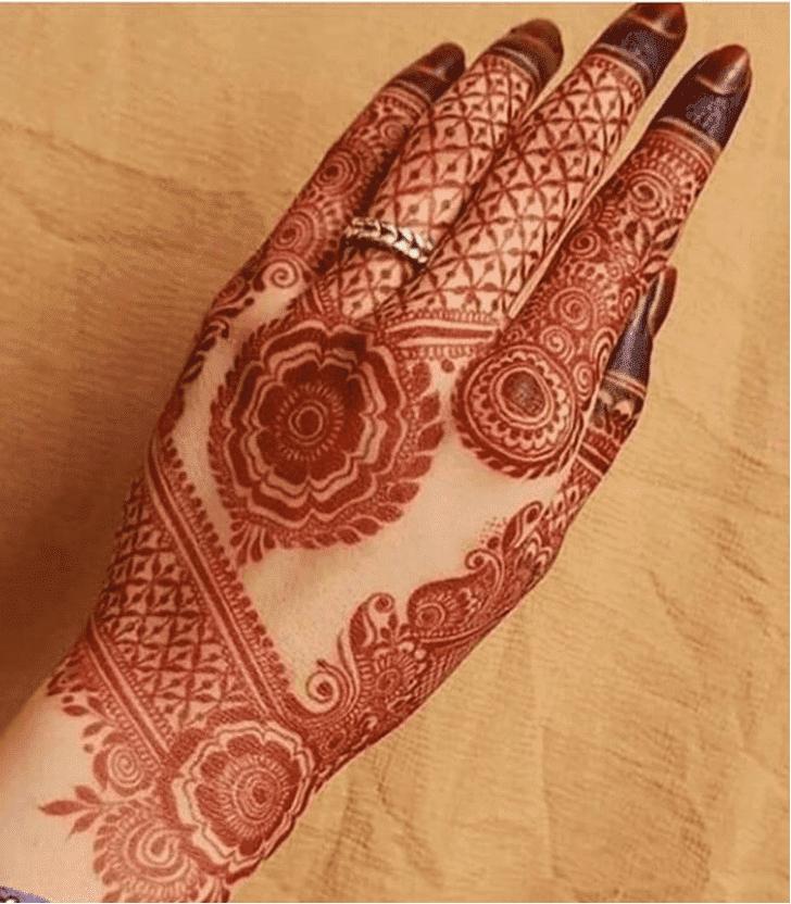 Classy Teej Henna Designon Back Hand