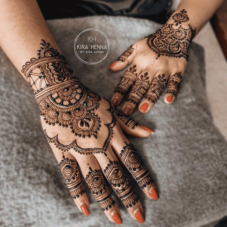 Exquisite Tiruchirappalli Henna Design
