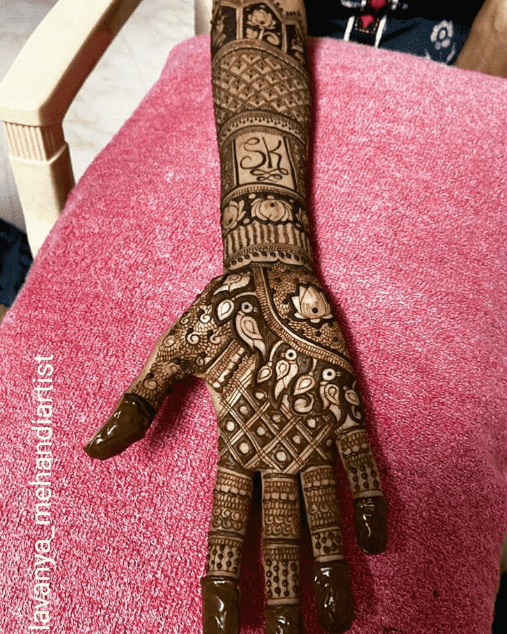 Graceful Tiruchirappalli Henna Design