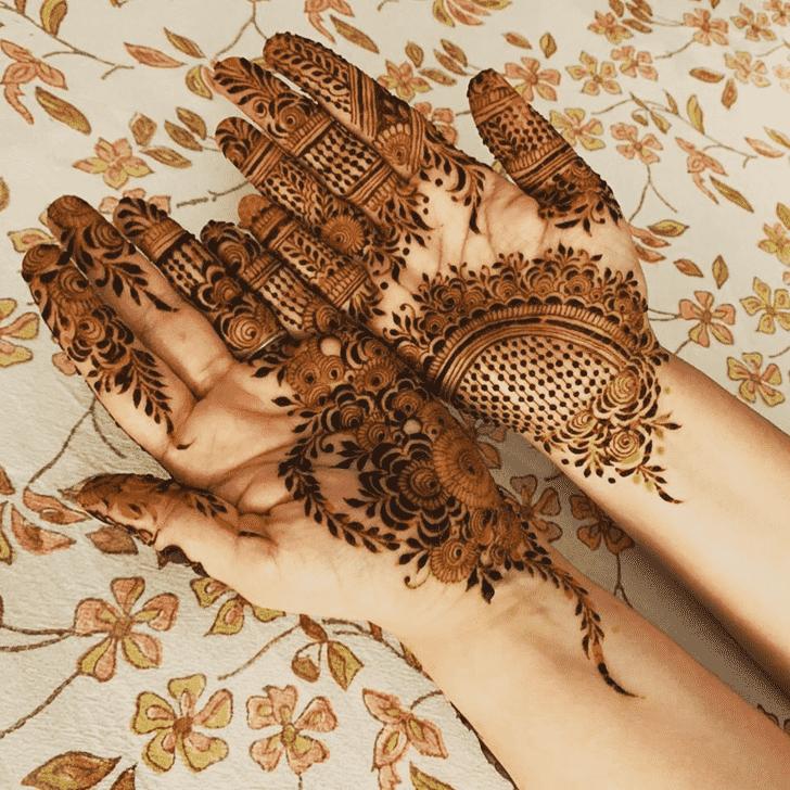 Pretty Tiruchirappalli Henna Design