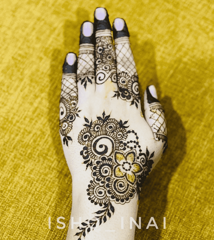 Slightly Tiruchirappalli Henna Design