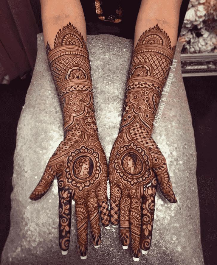 Charming Turkish Henna design