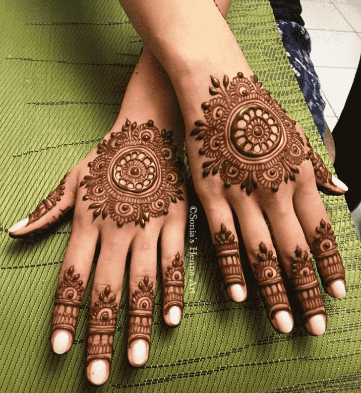 Classy Turkish Henna design