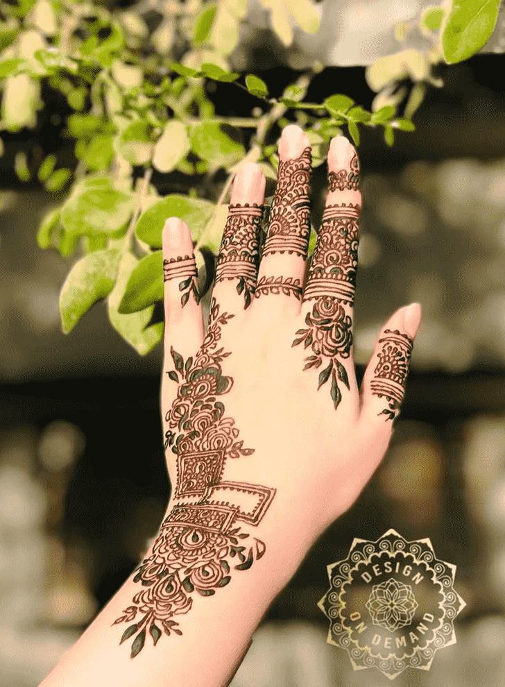 Pleasing Unique Henna Design