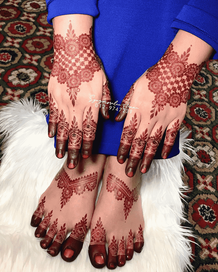 Adorable United Kingdom Henna Design