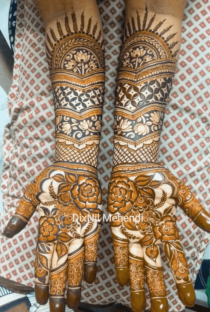 Admirable Valentines Day Mehndi Design