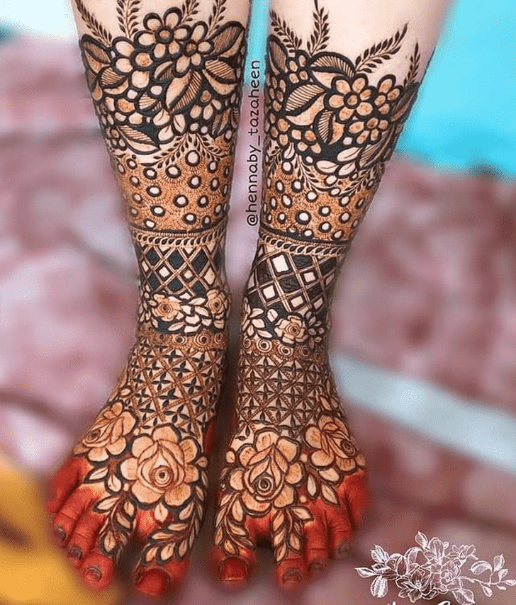 Adorable Valentines Day Henna Design