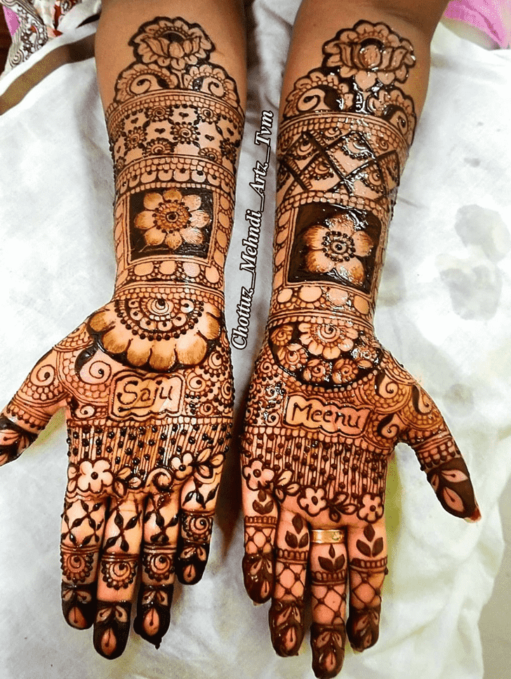 Captivating Valentines Day Henna Design