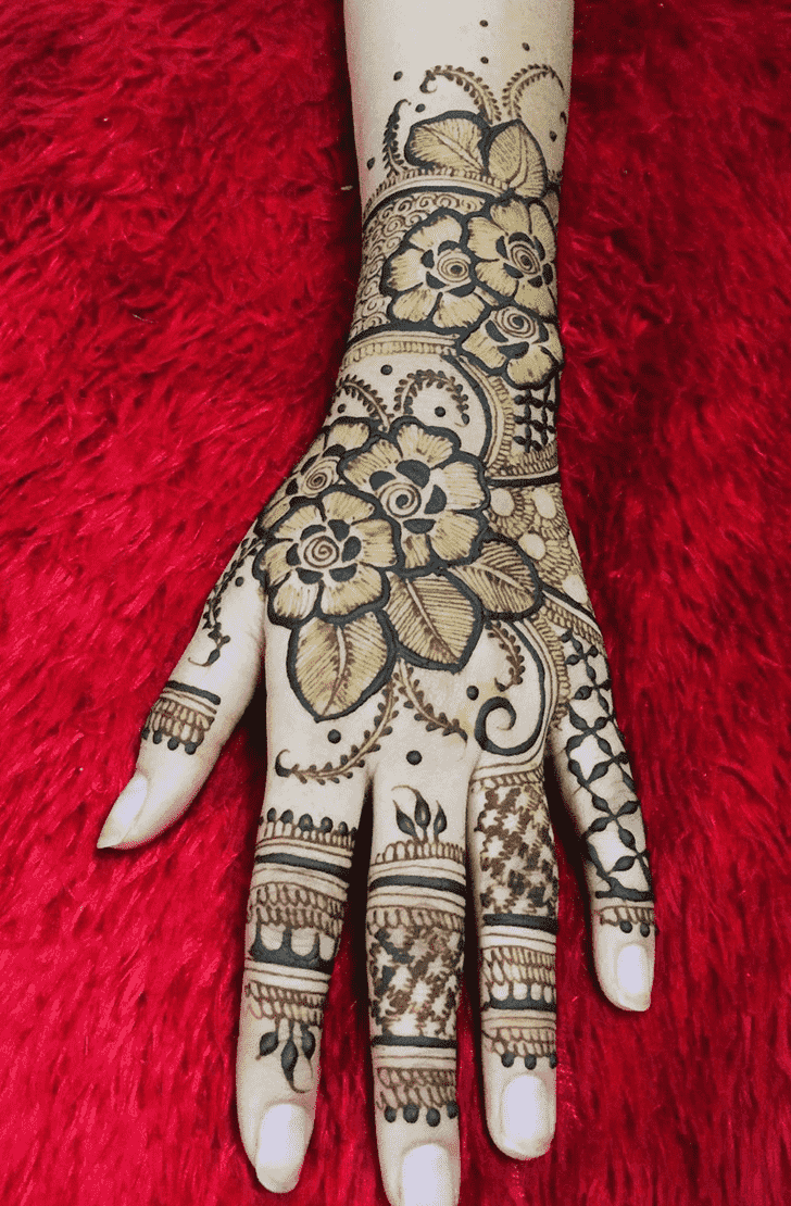 Charming Valentines Day Henna Design