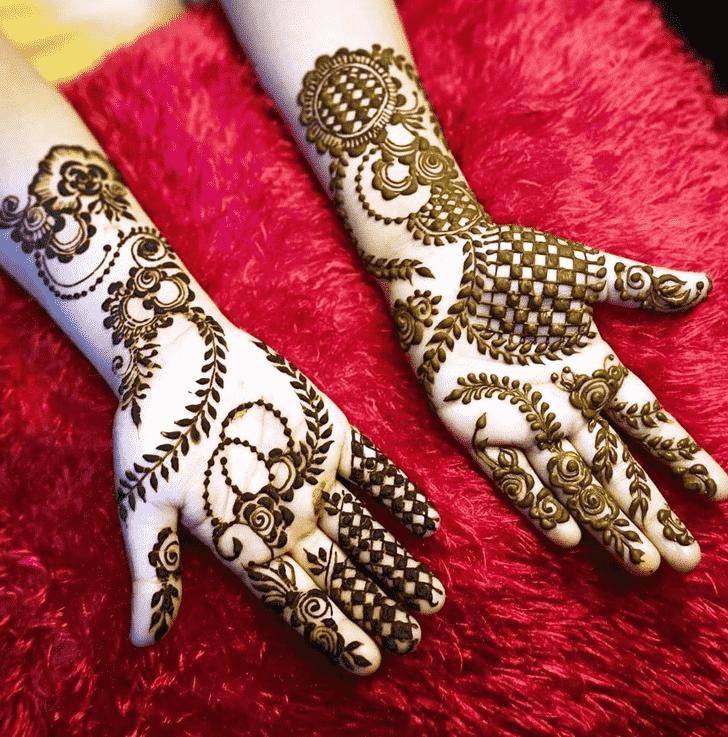 Classy Varanasi Henna Design