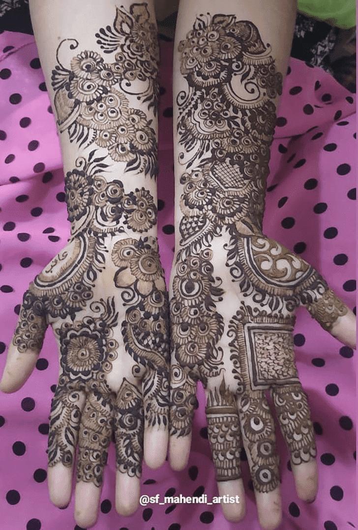 Lovely Vat Purnima Mehndi Design