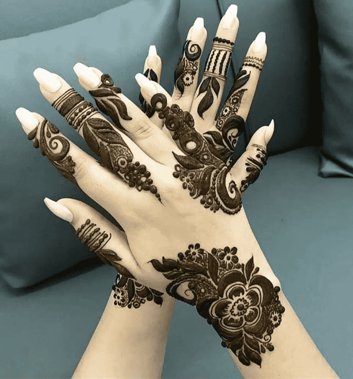 Captivating Vijayawada Henna Design