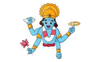 Vishnu Mehndi Design