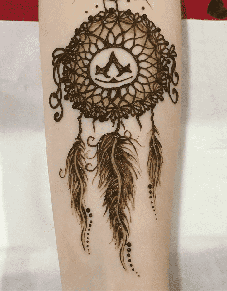Inviting Western Henna Design