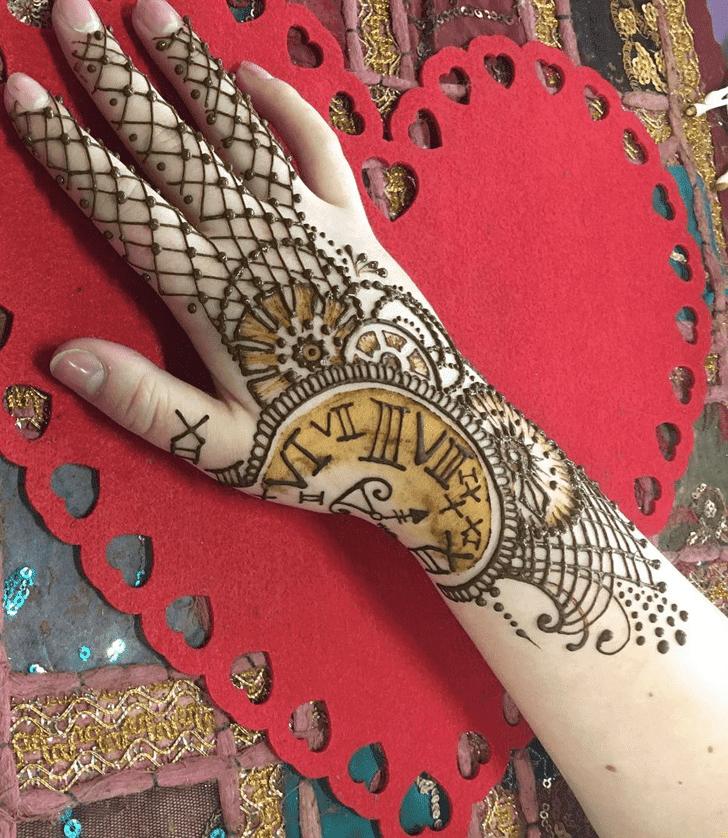 Radiant Western Henna Design