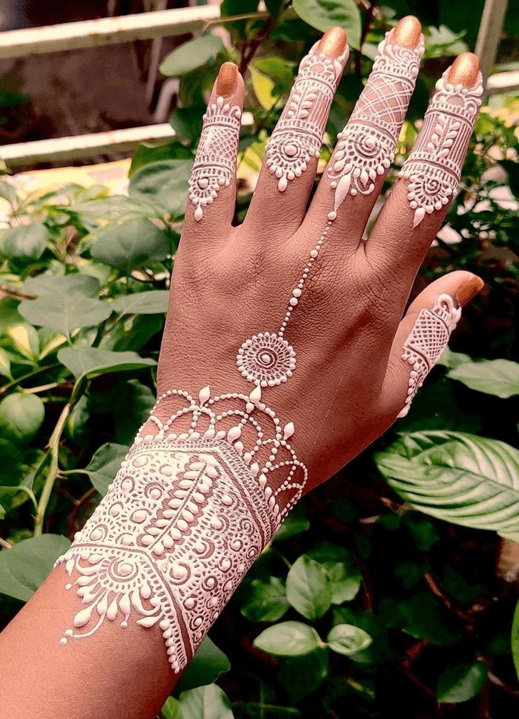 Flower White Mehndi
