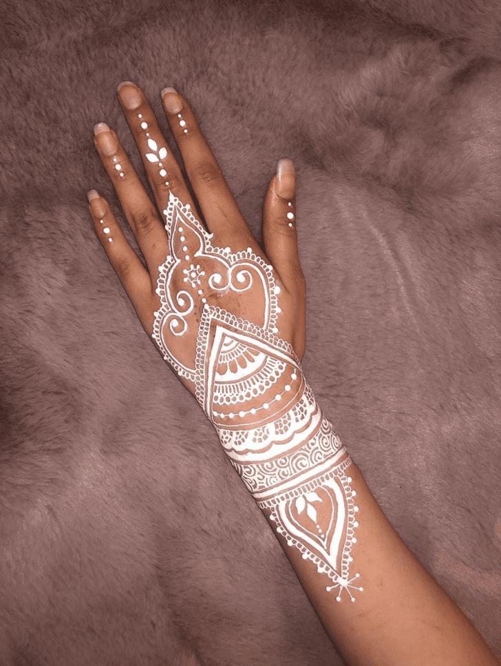 Awesome White Mehndi