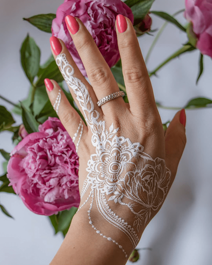 Side White Mehndi Henna