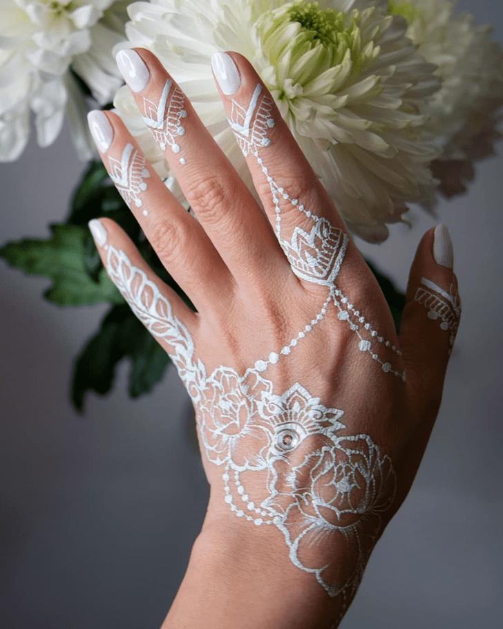 Stunning White Mehndi Henna