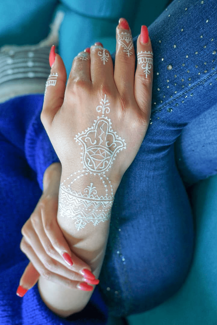 White Small Mehndi Design