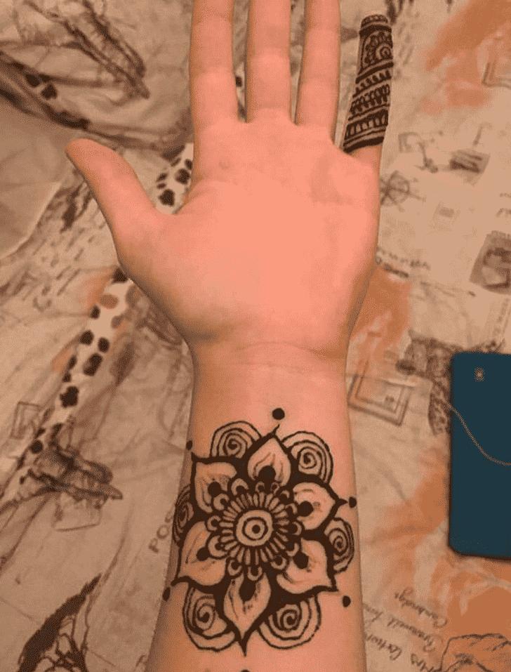 Bewitching Wrist Henna design