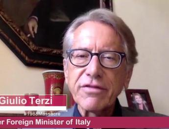 """Giulio Terzi: Internet Conference """"Execution, Mullahs' Survival, Call on the United Nations to Account for the 1988 Massacre"""